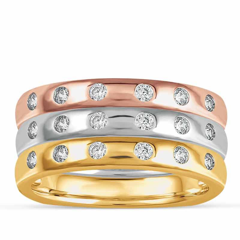 The Copper Trio Stackable Ring Set 4911 001 8 1