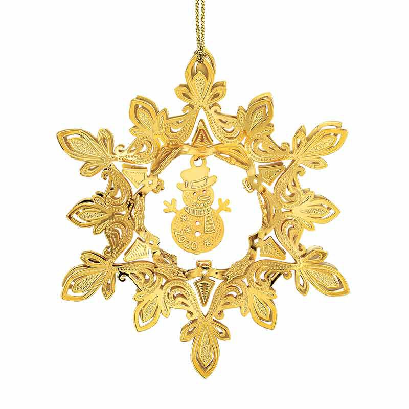 The 2020 Gold Christmas Ornament Collection 2161 006 8 7