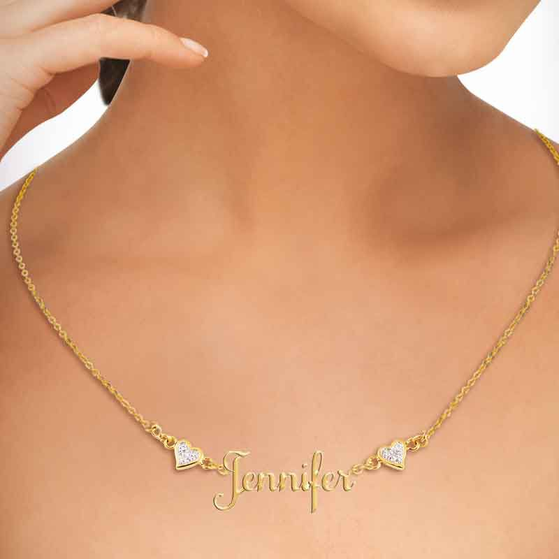 Personalized Diamond Name Necklace 1698 006 2 4