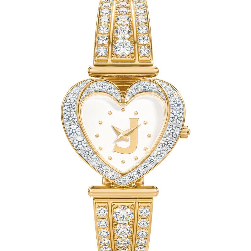 Womens Birthstone Initial Heart Watch 10332 0016 d april