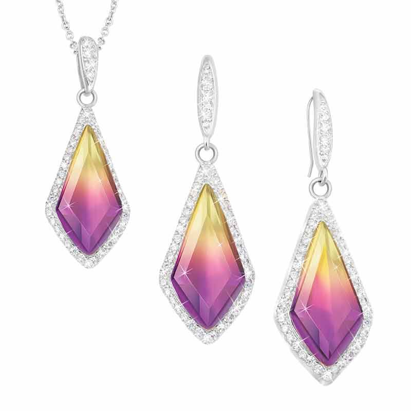 Sunset Splendor Pendant  Earrings Set 2146 001 9 1