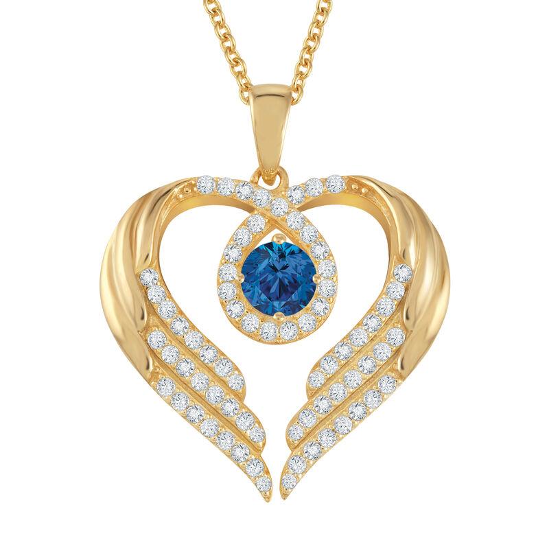 Birthstone Pendant Angel Heart Wing 6721 0013 j september