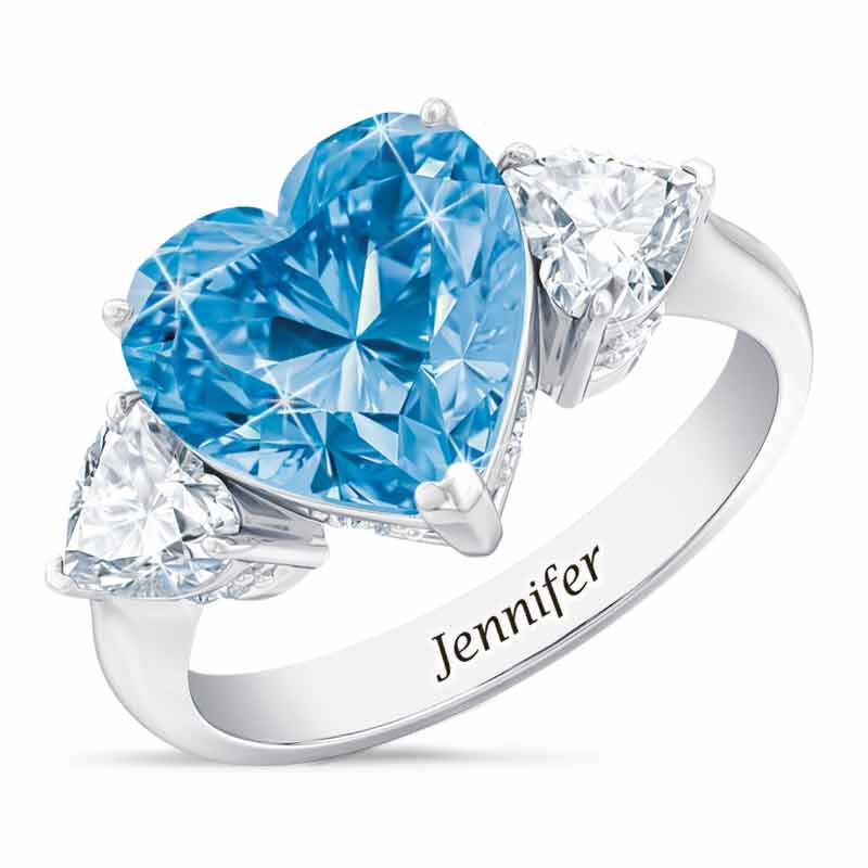 Birthstone Triple Heart Ring 1516 001 3 12