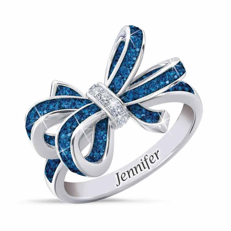 Birthstone  Diamond Bow Ring 1876 001 7 9
