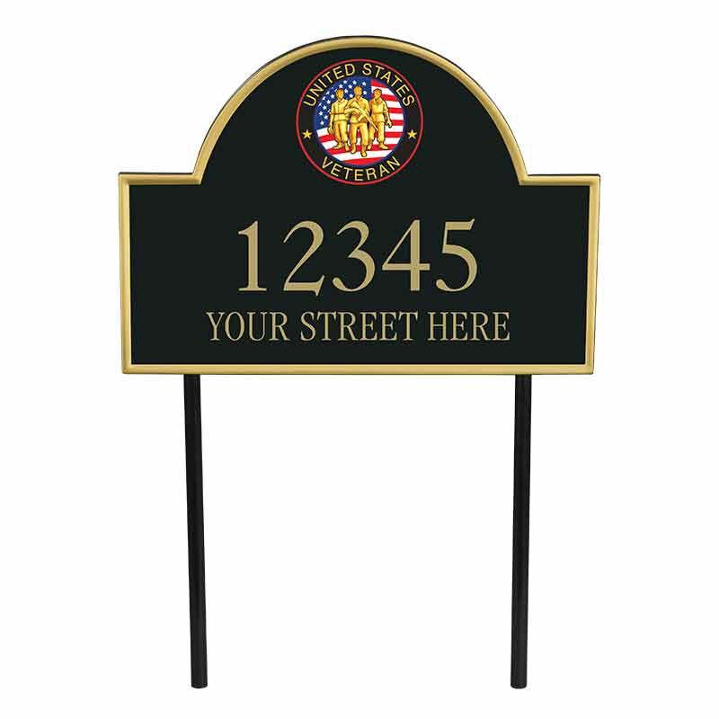 US Veterans Personalized Address Plaque 5718 005 1 1