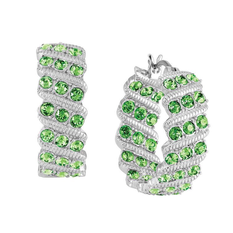Birthstone Hoop Earrings 6003 0020 h august
