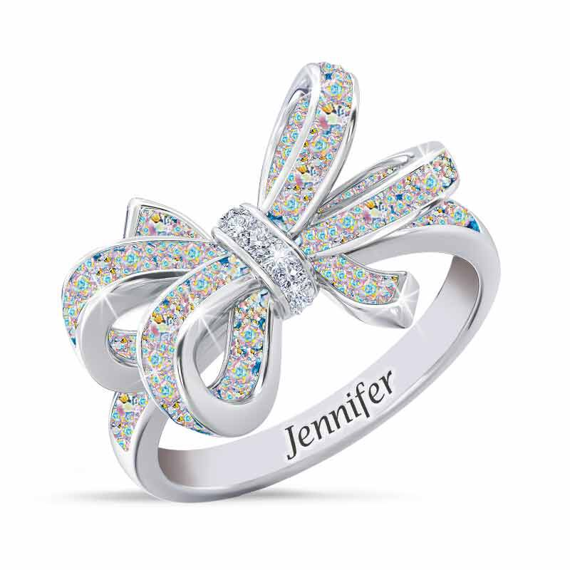 Birthstone  Diamond Bow Ring 1876 001 7 10