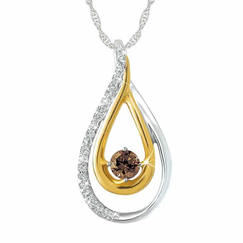 Mocha Drop Diamond Pendant 5404 001 9 1