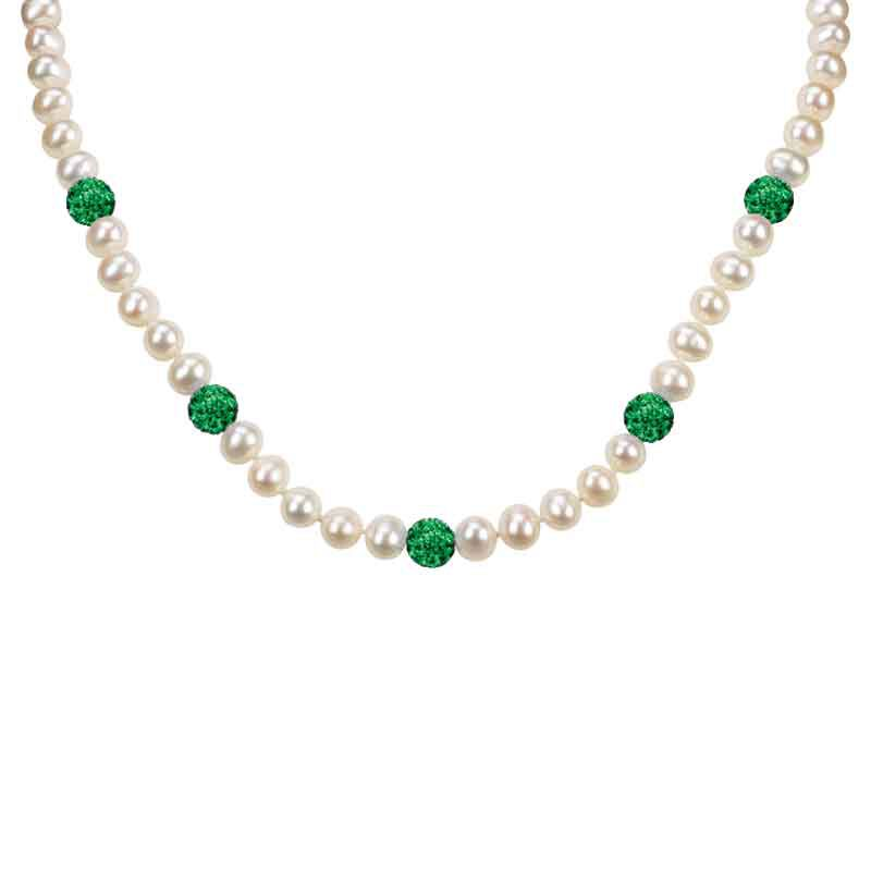Bedazzled with Birthstones Pearl Necklace 5106 001 0 5
