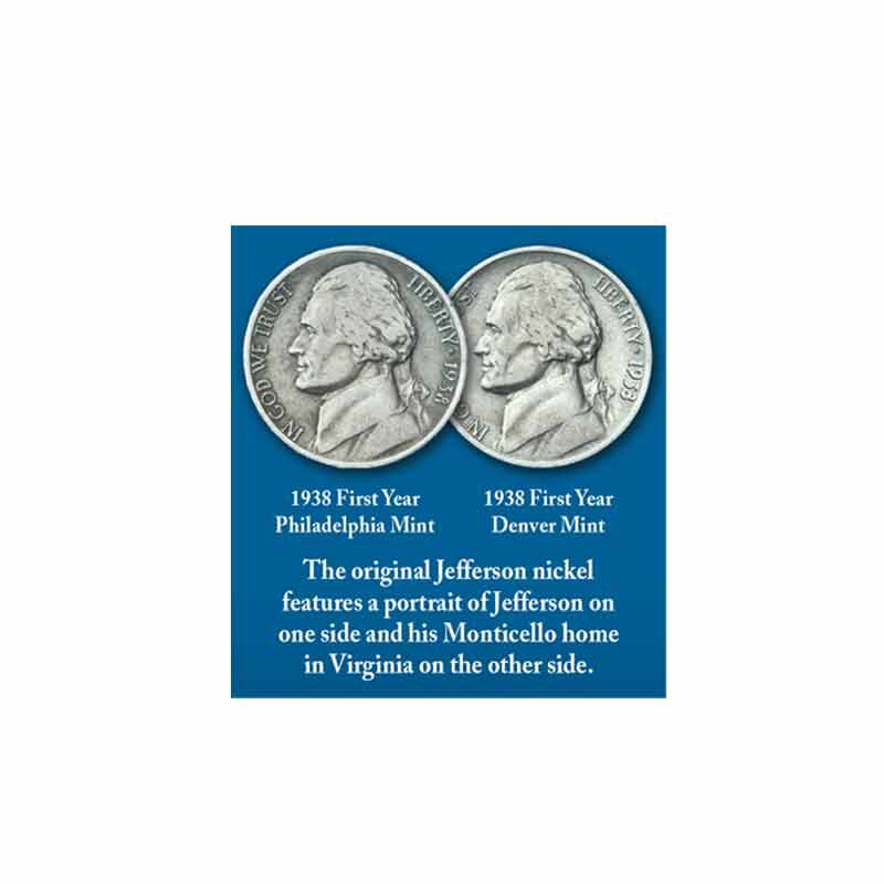 Thomas Jefferson Coin and Currency Set 1796 003 0 5