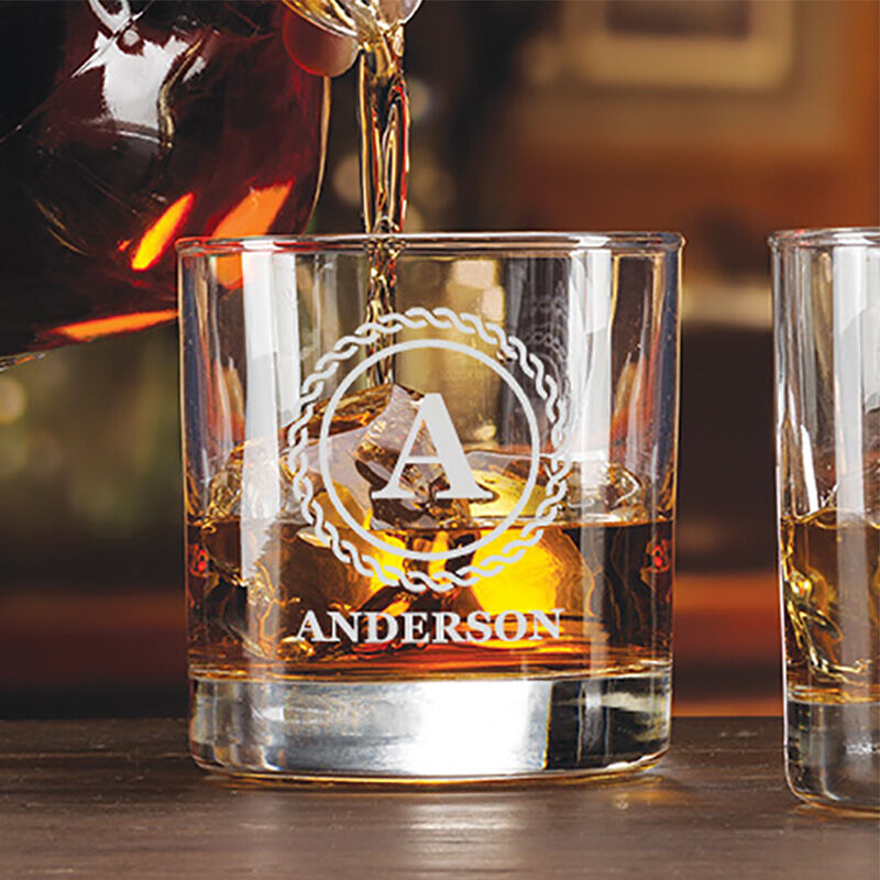 The Personalized Set of Four Lowball Glasses 5647 001 6 2