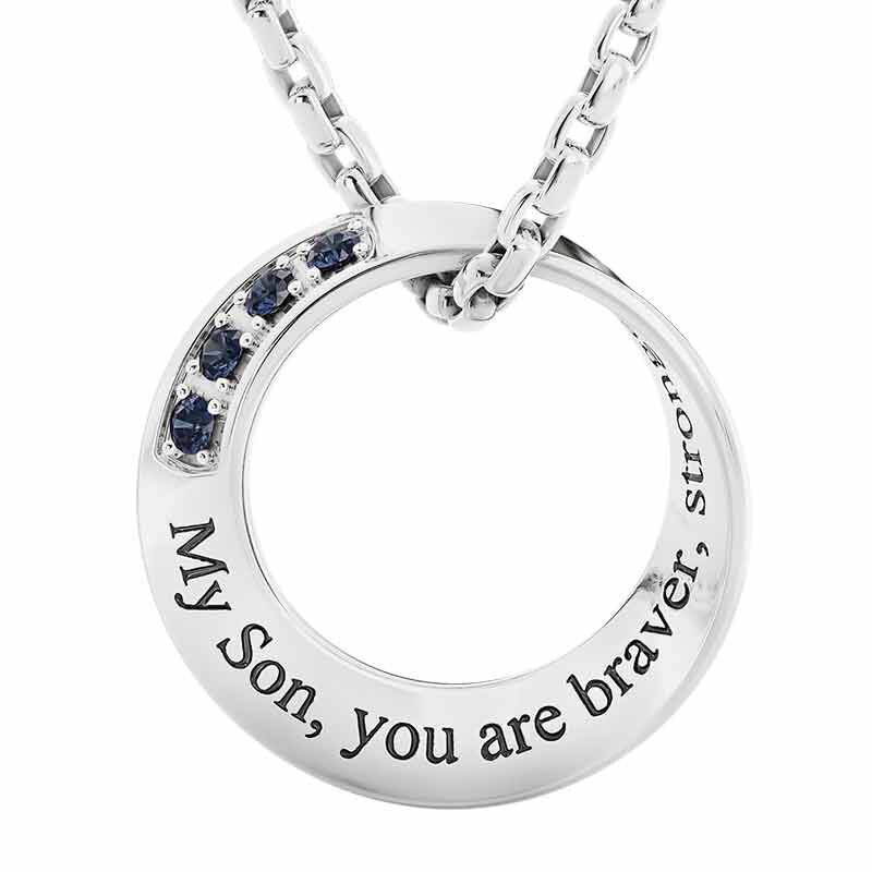 Son Infinity Circle Black Sapphire Pendant 6463 001 5 1