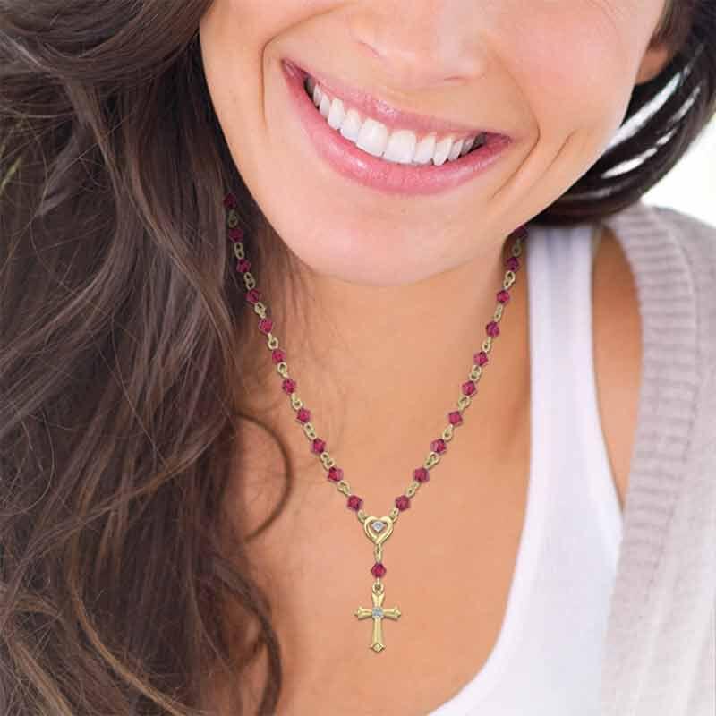 My Devotion Birthstone Diamond Necklace 6365 001 4 13