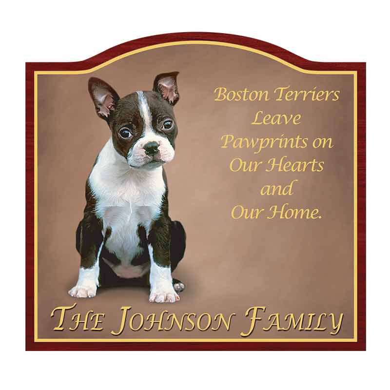Boston Terrier Welcome Sign 1473 002 2 1