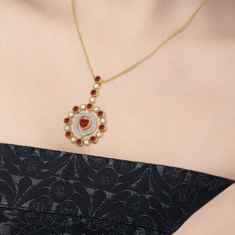 Love Embrace Birthstone Diamond Necklace 6928 0014 n model