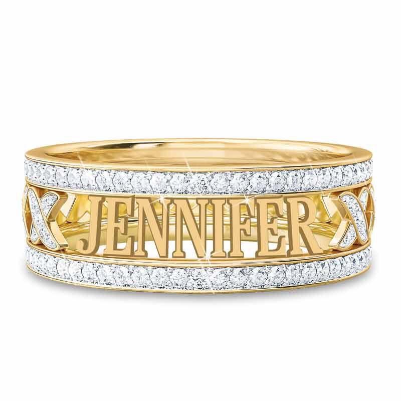 Personalized Diamond Kiss Ring 1918 008 2 1