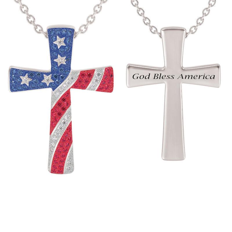 God Bless America Cross Pendant 10198 0019 a main