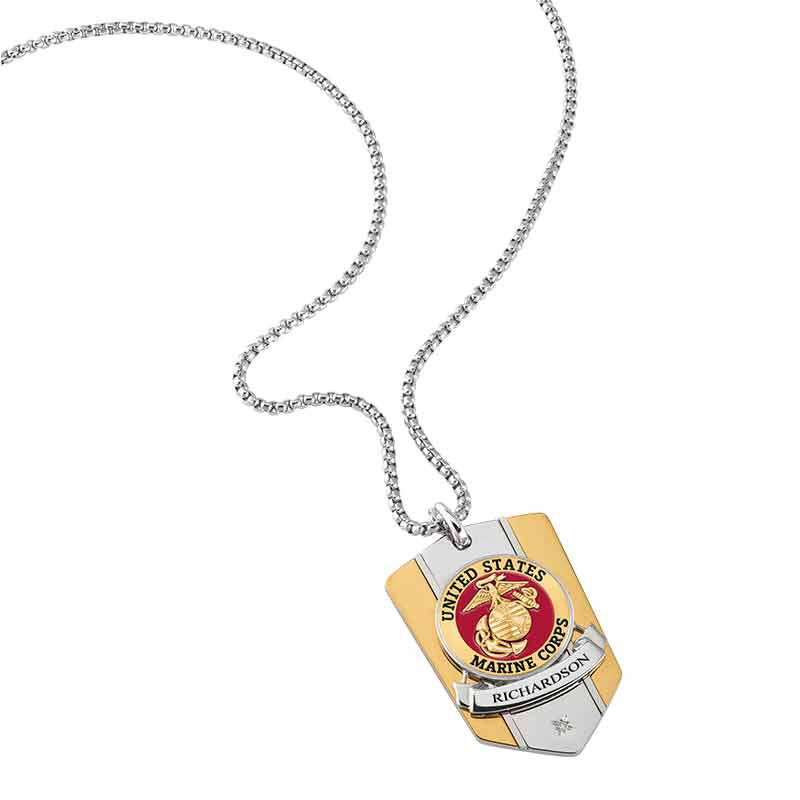 The Personalized Commemorative Marines Pendant 6220 003 5 2