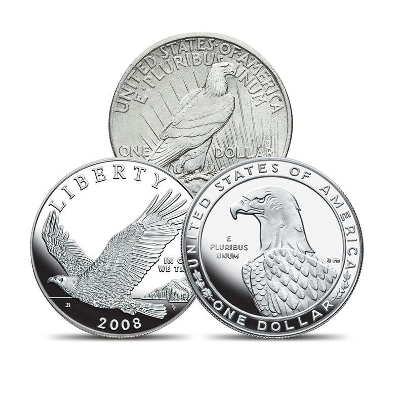 Eagle Silver Coin Collection 10035 0016 b coin