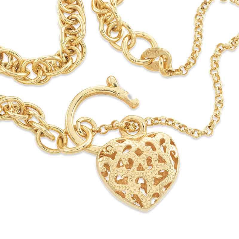 Lock of Love 14kt GoldAura Bracelet 6352 001 9 2