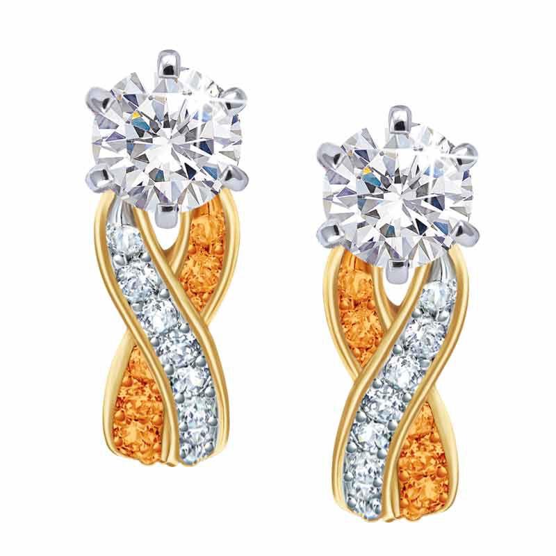 Birthstone Swirl Earrings 5361 014 3 11