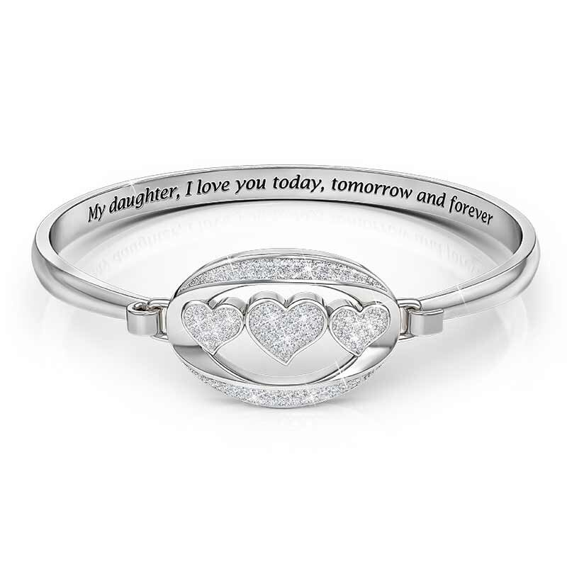 My Daughter I Love You Diamond Bangle 1203 001 1 1