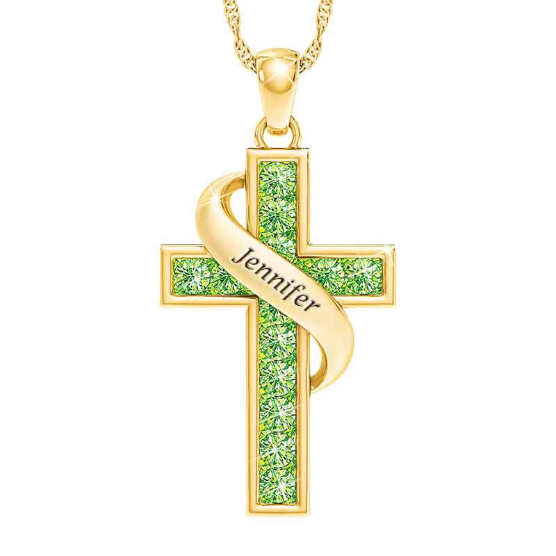 Personalized Birthstone Cross Pendant 5657 001 3 8