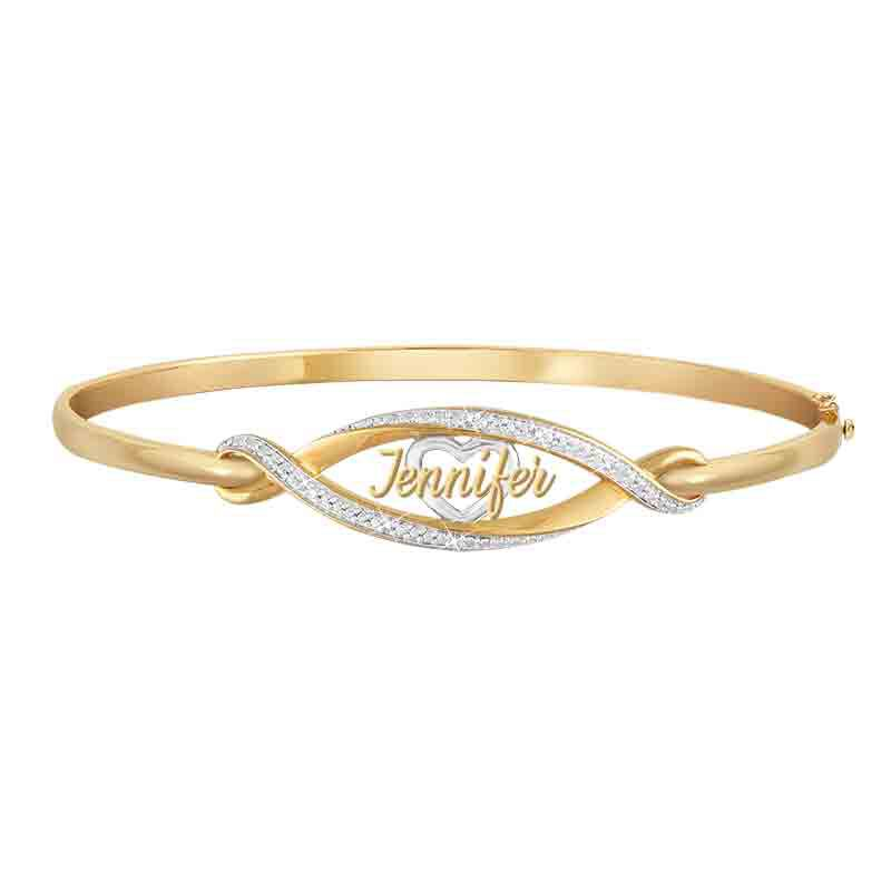 Personalized Diamond Heart Bangle 1918 007 4 1