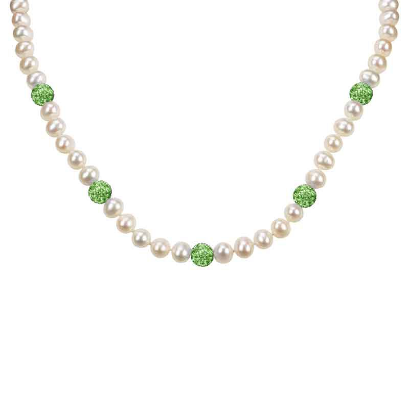 Bedazzled with Birthstones Pearl Necklace 5106 001 0 8