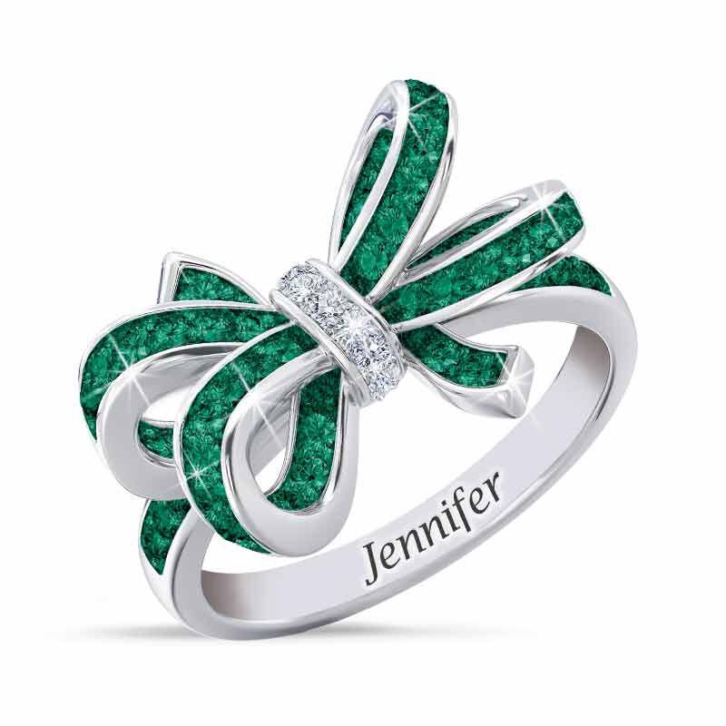 Birthstone  Diamond Bow Ring 1876 001 7 5