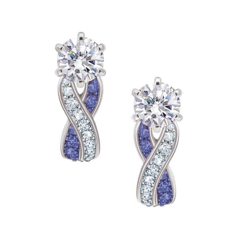 Birthstone Swirl Earrings 6366 0021 b february