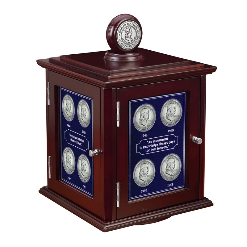 Complete Ben Franklin Half Dollars Collection 1797 0054 a display