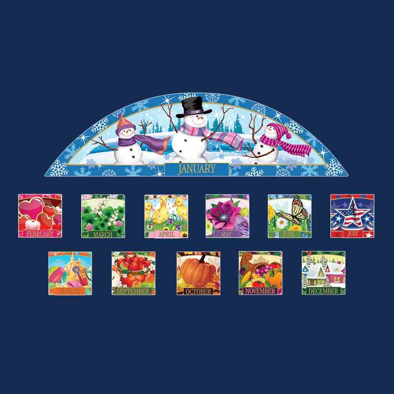 Year of Cheer Monthly Address Plaque 5837 001 6 4