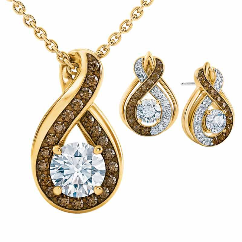 Perfectly Paired Mocha Swirl Pendant with FREE Matching Earrings 4978 001 8 1