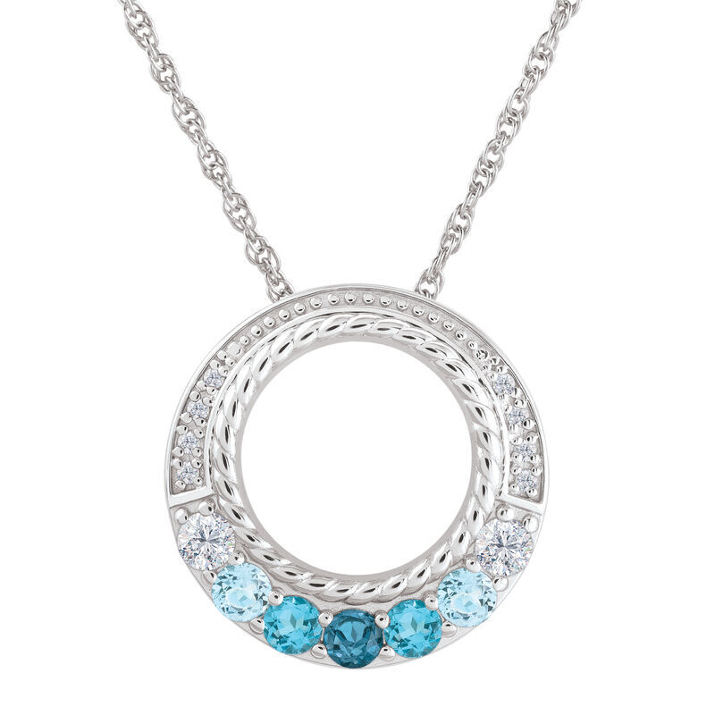 Waves of Love Daughter Diamond  Topaz Pendant with card 6769 001 6 1