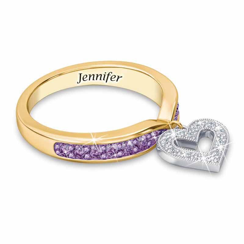 Birthstone  Diamond Charm Ring 2145 002 8 6