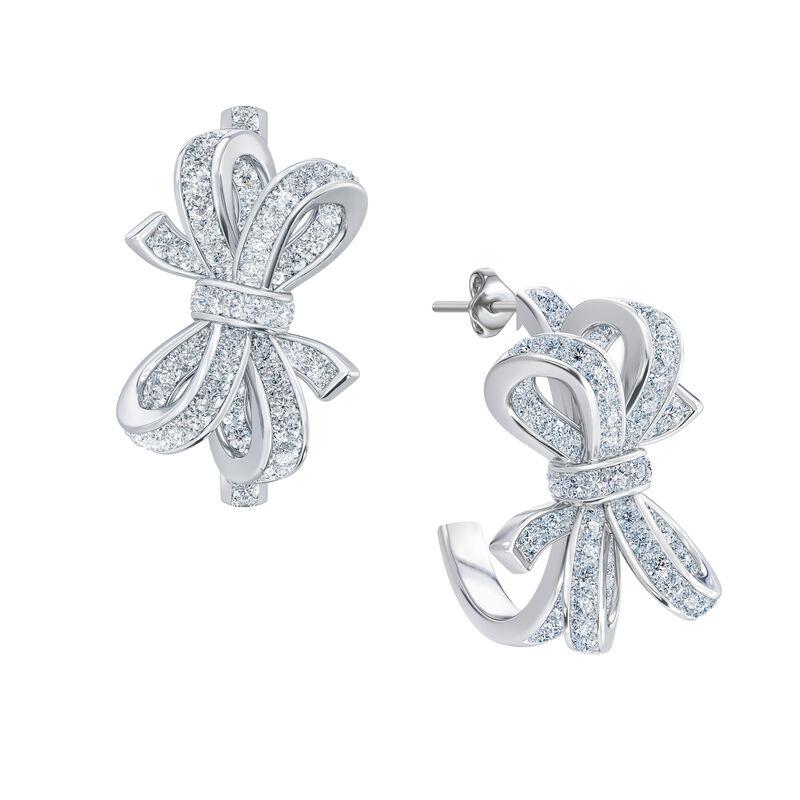 Birthstone Diamond Bow Earrings 1876 0066 d april