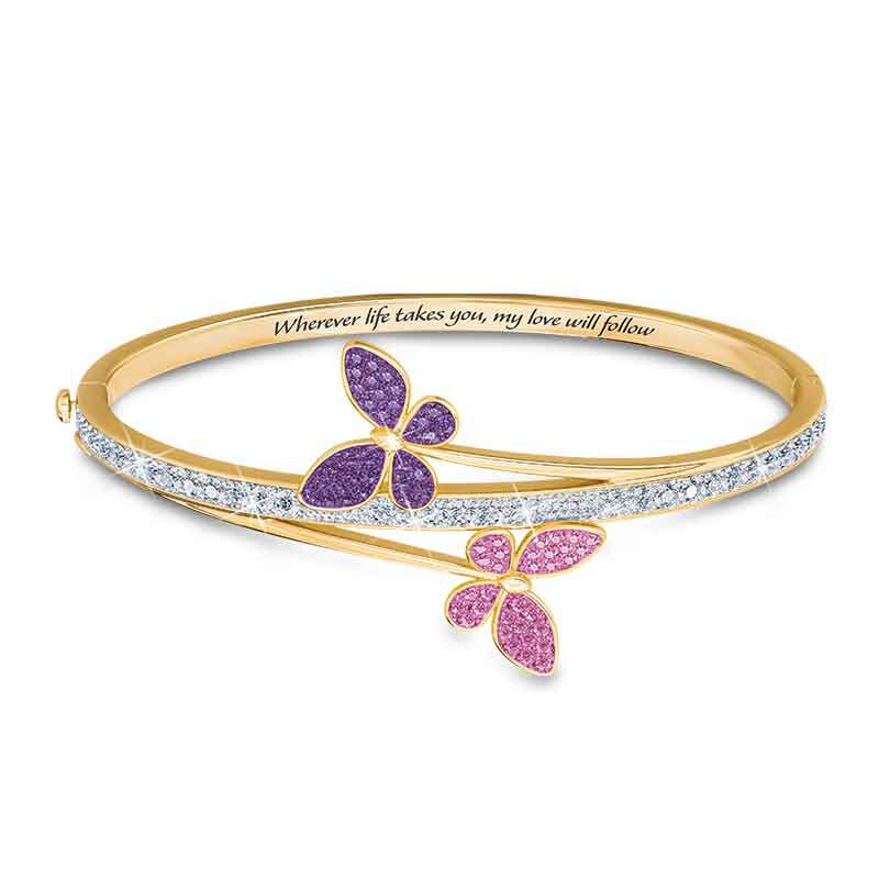 My Love Will Always Follow You Granddaughter Butterfly Bangle 6248 001 7 1