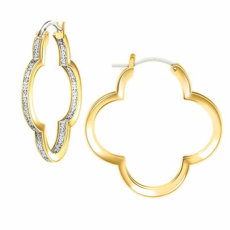 The Dazzling Diamond Quatrefoil Hoops 6232 001 5 1
