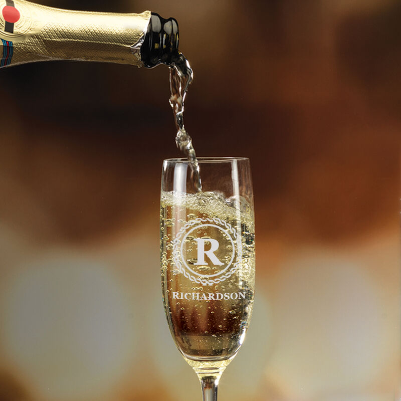 The Personalized Champagne Flutes 10036 0031 c pouring champagne