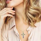 The Birthstone  Diamond Cross Necklace 6787 001 4 14