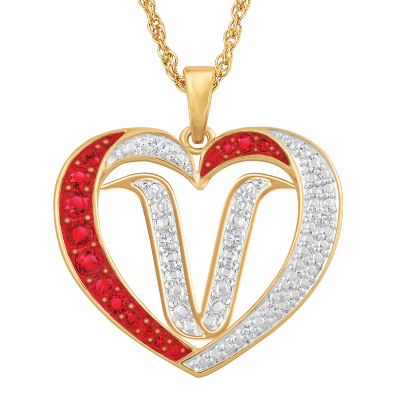 Personalized Diamond Initial Heart Pendant with FREE Poem Card 2300 0060 v initial