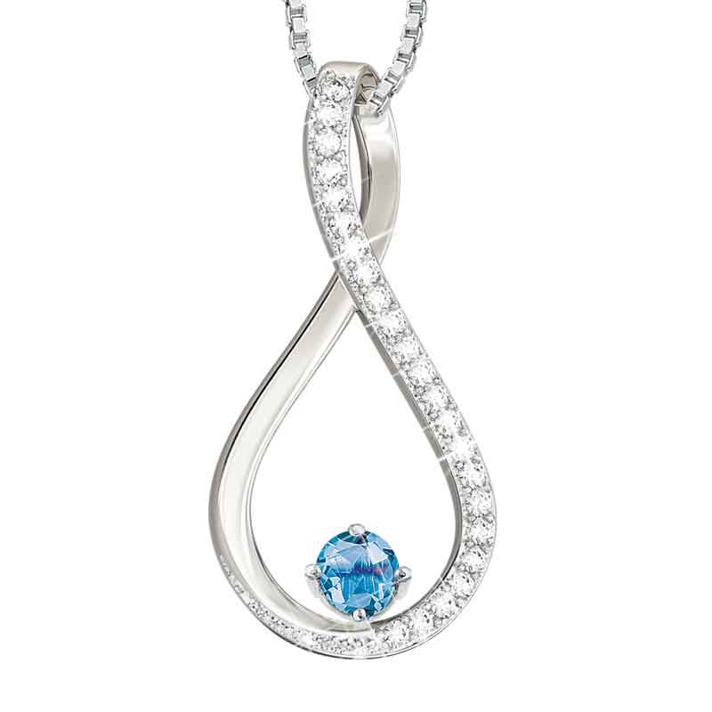 The Birthstone  Diamond Infinity Pendant 5200 001 5 12