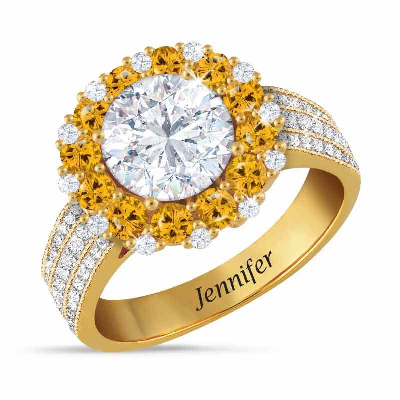Birthstone Beauty Diamonisse Halo Ring 4924 001 3 11