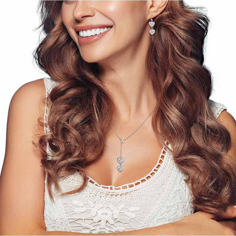 Sensational Silver Pendant  Earring Set 6367 001 2 5