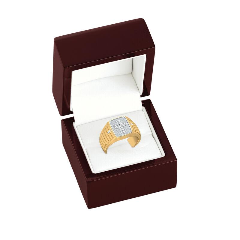 Believe Baguette Diamond Mens Ring 10456 0016 g gift box