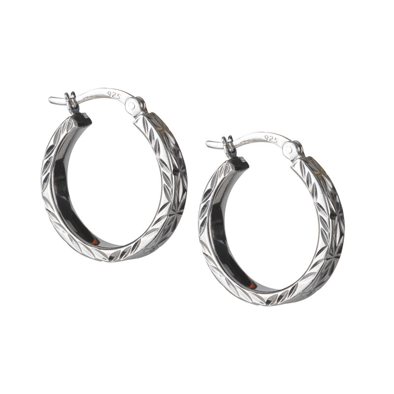 A Sterling Year Silver Hoop Earrings 10633 0012 c earring03