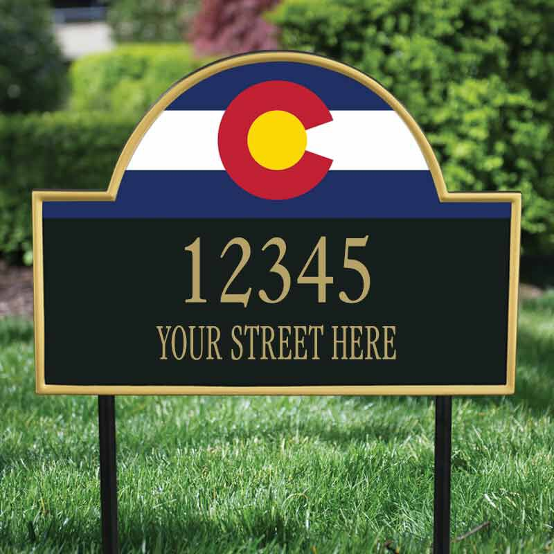 The Colorado Personalized Address Plaque 1073 008 3 2