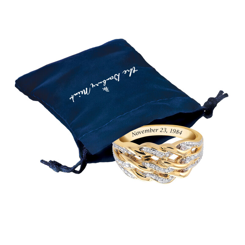 Personalized Diamond Anniversary Ring 6500 0036 g gift pouch