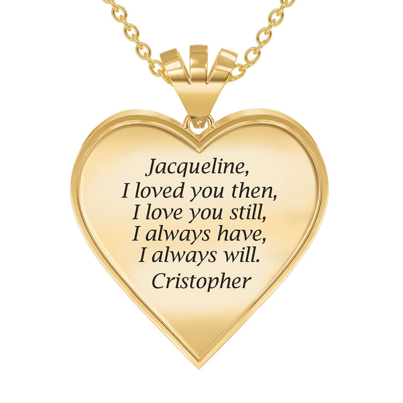 Woven Together Personalized Heart Pendant 10134 0016 c back